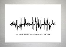 The Pogues & Kirsty McColl – Fairytale Of New York - Sound Wave Print Poster Art