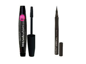 Technic Mega Lash Volumising Black Mascara Plus Skinny Eye Liner Pen Liquid