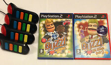 BUZZERS FOR  PLAYSTATION 2  - INCLUDES GAMES - PS2 - BUZZ SPORT