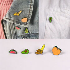 1PC New Cute Banana Peaches Avocado Mini Fruit Style button Collar Brooch Pin