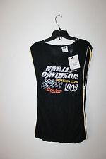 New Harley-Davidson rhinestone women sleeveless t-shirt black size 3W