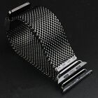 For Gray Apple Watch Sport Stainless Steel Milanese Loop Strap watch Band buckle
