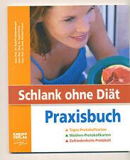 Schlank ohne Diät Praxisbuch von Ingrid Kiefer Protokollkarten Protokolle