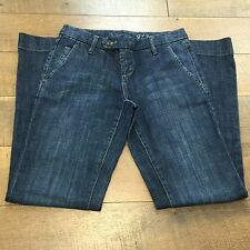 THE LIMITED 917 Denim Stretch Wide Leg Jeans Excellent Condition Womens Size 0 S