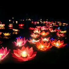 Floating Lotus Lights Water Lily Candles Light for Pool Festival Nigh 8 pcs