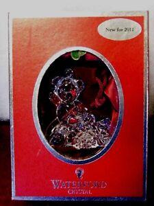 Waterford Lead Crystal Ornament 2011 Teddy Bear In Box