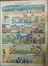 Camel Cigarette Ad: Cowboys Foil Cattle Rustlers Full Page Size ! from 1938