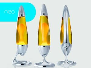 Mathmos Neo Lava Lamp - silver - yellow/orange
