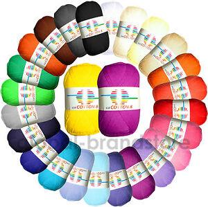 GB Wolle Cotton 8 Schulgarn- 100% Baumwolle Strickgarn Häkelgarn dünn 3,20€/100g
