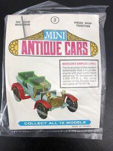 Mini Antique Cars Made in France 1901 Mercedes-Simplex NIP