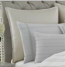 New By Wedgwood White Quilted Euro Pillow Sham 26 X 26 ~Intaglio Collection