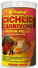 Tropical Cichlid Carnivore Medium Pellets Floating 180g - Aussie Seller