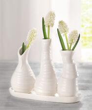 Porzellan Vase Pure White 3er Set, Blumenvase, weiß, Tischdekoration, Dekoration