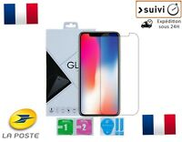 Verre Trempé Coque Etui Housse Protection Silicone iPhone XR Avant Arrière