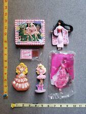 LOT of 6 Barbie Mattel McDonalds Toys Rose Princess Chocolate tin and stamp kit