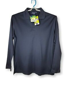 Winning Spirit - Navy Long Sleeve Mens Cotton Polo Shirt - PS35 Victory Plus