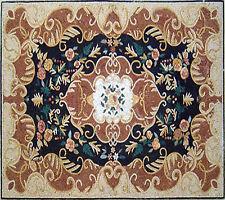 Floral Rug Floor Carpet Inlay Art Home Decoration Marble Mosaic CR1109
