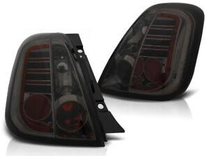 LED rear lights for Fiat 500 2007 2008 2009 2010 2011 VR-751 Tail Light Smoke