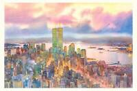 New York City Watercolor Painting by Roustam Nour | Free Shipping