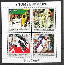 Pinturas-chagall/San Tomé et principe MiNr 2543/46 **