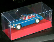 DINKY 1965 M.G.B. GT MODEL BLUE BLACK TOP WITH CLEAR MODEL DISPLAY BOX