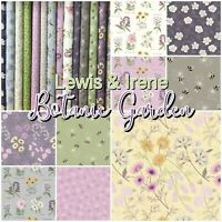 Lewis & Irene BOTANIC GARDEN Floral Bees 100% Cotton Patchwork Craft Fabric