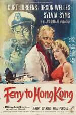 FERRY TO HONG KONG Movie POSTER 27x40 B Curt Jurgens Orson Welles Sylvia Syms