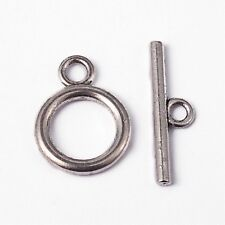 A6620 10 Sets 20x21mm Silver Plated Alloy rhombus Toggle Clasps