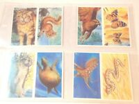 1994 Brooke Bond Tea GOING WILD animals statistics Trading set  20 double cards