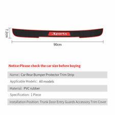 Car Accessories Door Sill Cover Trim Rubber Rear Bumper Protector Guard 90*7.2CM