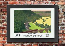 TX272 Vintage Monsal Dale Peak District LMS Railway Framed Travel Poster A3/A4
