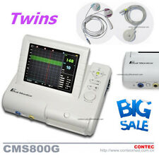 CMS800G Fetal Monitor TOCO/Fetal Move mark probe+Twins Ultrasound Transducer