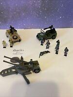 Micro Machines Military Action Fleet Jeep's & Gun & Crew 1997 Galoob