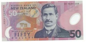 New  Zealand 50 Dollars ND 1999 Pick 188 Uncirculated Banknote
