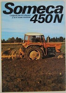 prospectus brochure SOMECA 450N  tractor traktor prospekt fiat tracteur trattore