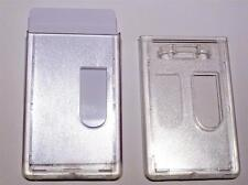 ID Card fuel security card Holder Portrait 2 cards holder Clear polycaronate
