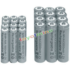 12 AA 3000mAh + 12 AAA 1800mAh battery Bulk Nickel Hydride Rechargeable 1.2V Gra