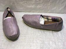 Toms Purple Metallic Linen Classics Loafer FLATS Women's Sz 9 EUC