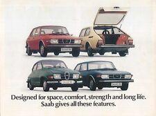 Saab Range 99 99L Combi Coupe 96 V4 1974-75 Original UK Sales Brochure 201129
