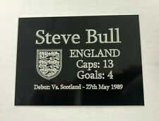 ANY England Football Player Stats - 140x100mm Engraved Plaque for Signed Display