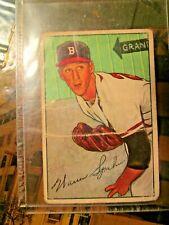 1952 BOWMAN BASEBALL #156 WARREN SPAHN, BOSTON BRAVES, HOF~