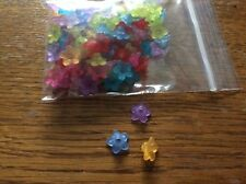 Acrylic flower spacer beads approx 10mm x 100