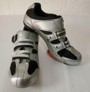 Specialized Body Geometry Cycling Shoes Women's Size 8.5 (US) 39 (EU) Silver