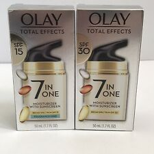 Set 2! Olay Total Effects 7 in 1 Moisturizer w/ Sunscreen SPF 15 and SPF 30