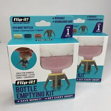 New!  Lot of 2 - Flip-It Bottle Emptying Kit for Condiments/Lotion/Shampoo/More