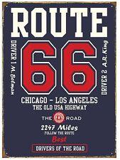 Ruta 66 Chicago-Los Angeles Letrero De Metal 410 mm x 300mm de (HR)