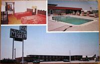 1970s Chrome Postcard: 'Villa Motel Interior & Pool - El Reno, Oklahoma OK'