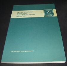 Werkstatthandbuch Mercedes W 126 Coupe SL R 107 W 123 S-Klasse Stand 09/1981