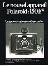 PUBLICITE  1974   POLAROID   appareil photo ZIP