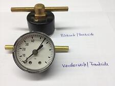 Manometer d=39mm für waagrechten Einbau 0-40 lb (entspr. 0-2,75 bar) NEU